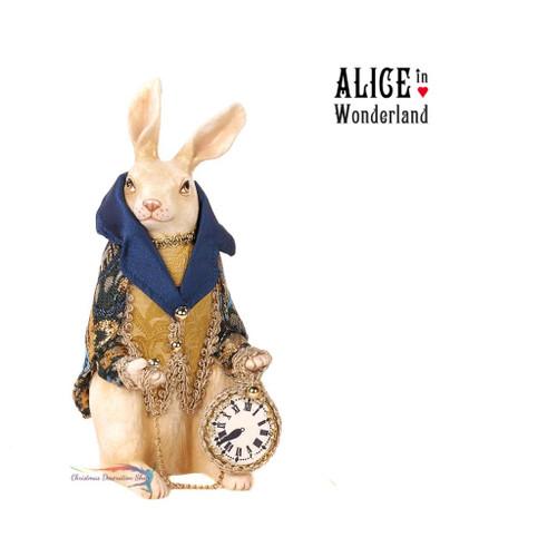 Rabbit Holding Clock Table Display