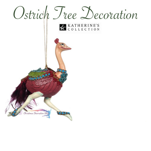 Ostrich Christmas Tree Ornament