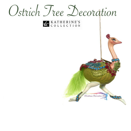 Katherine's Collection Ostrich Tree Decoration