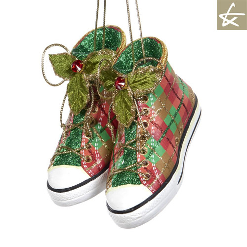 Katherine's Collection Christmas 2018 Sneakers Tree Ornament Display
