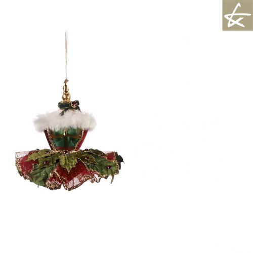 Katherine's Collection Holly Dress Christmas Tree Ornament