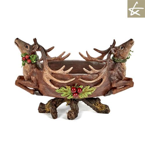 Katherine's Collection Christmas Reindeer Bowl