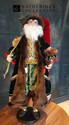 Old World Santa Doll Display