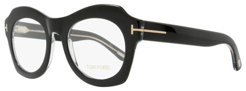Tom Ford Oval Eyeglasses TF5360 005 Size: 49mm Black/Crystal FT5360