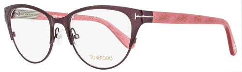 Tom Ford Cateye Eyeglasses TF5318 071 Size: 53mm Wine Red/Coral Red FT5318