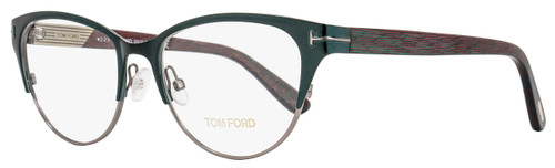 Tom Ford Cateye Eyeglasses TF5318 089 Size: 53mm Satin Turquoise/Emerald Green FT5318