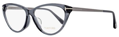 Tom Ford Cateye Eyeglasses TF5354F 020 Size: 56mm Transparent Gray/Ruthenium FT5354