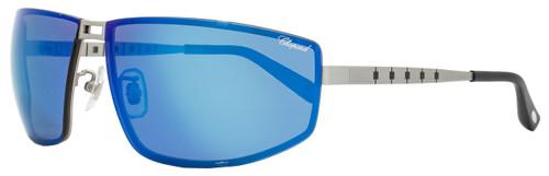 Chopard Wrap Sunglasses SCHB02M S80P Satin Palladium Polarized B02