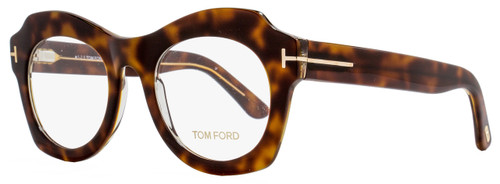 Tom Ford Oval Eyeglasses TF5360 056 Size: 49mm Havana/Crystal FT5360