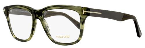 Tom Ford Square Eyeglasses TF5372 098 Size: 54mm Green Melange/Ruthenium FT5372