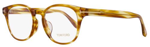 Tom Ford Oval Eyeglasses TF5400F 053 Size: 51mm Blonde Havana FT5400