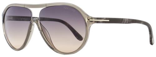 Tom Ford Aviator Sunglasses TF443 Edison 20B Transparent Gray FT0443
