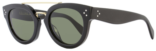 Celine Oval Sunglasses CL41043S 8071E Black/Gold 41043