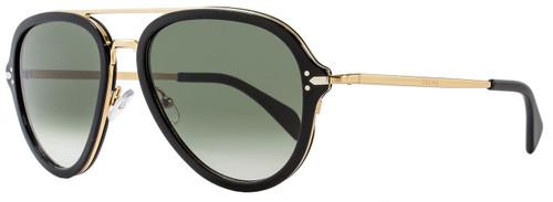 Celine Aviator Sunglasses CL41374S ANWXM Black/Gold 41374
