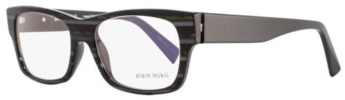 Alain Mikli Rectangular Eyeglasses A01320 B0AT Size: 53mm Stiped Brown/Gray 1320