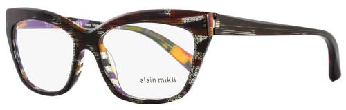 Alain Mikli Rectangular Eyeglasses A03016 B0F2 Size: 53mm Black Pin/Multi 3016