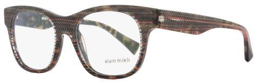 Alain Mikli Rectangular Eyeglasses A03025 B0D8 Size: 51mm Brown/Gray/Orange Striped 3025