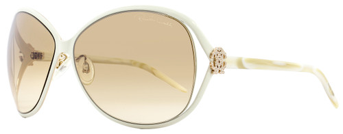 Roberto Cavalli Oval Sunglasses RC500S Variscite 25G Size: 65mm White/Gold 500