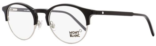 Montblanc Oval Eyeglasses MB555 001 Size: 48mm Black/Palladium 555