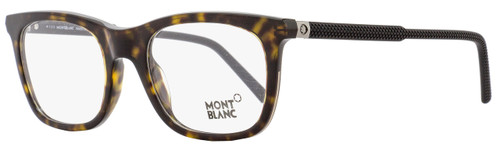 Montblanc Rectangular Eyeglasses MB610 056 Size: 53mm Havana/Black 610