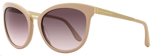 Tom Ford Oval Sunglasses TF461 Emma 74F Rose/Gold FT0461