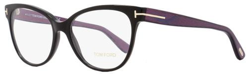 Tom Ford Cateye Eyeglasses TF5291 005 Size: 55mm Black/Iridescent Chalkstripe FT5291