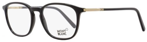 Montblanc Oval Eyeglasses MB539 001 Size: 50mm Black/Rose Gold 539