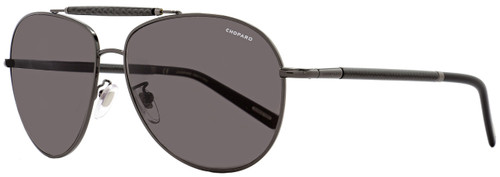 Chopard Aviator Sunglasses SCHB36 568P Shiny Bakelite Polarized B36