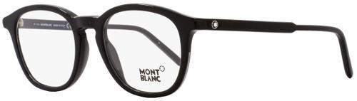 Montblanc Oval Eyeglasses MB613 001 Size: 50mm Black 613