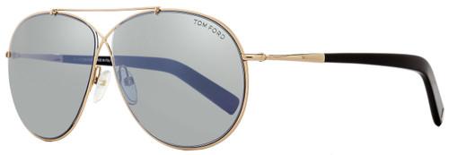 Tom Ford Aviator Sunglasses TF374 Eva 28Q Rose Gold/Black FT0374