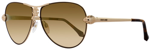 Roberto Cavalli Aviator Sunglasses RC883S Markab 33G Rose Gold/Brown 883