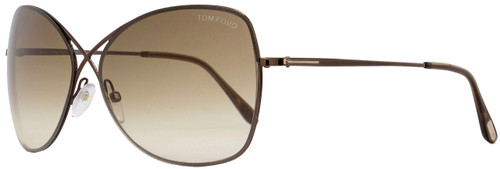 Tom Ford Butterfly Sunglasses TF250 Colette 48F Shiny Dark Brown FT0250