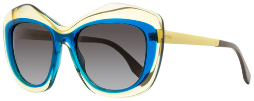 Fendi Butterfly Sunglasses FF0029S 7NTN6 Yellow/Peacock/Gold 29