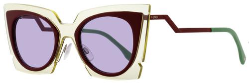 Fendi Cateye Sunglasses FF0117S IC5Y4 Beige/Red Burgundy 117