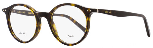 Celine Oval Eyeglasses CL41408 086 Size: 47mm Dark Havana 41408