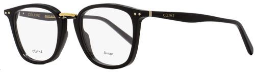 Celine Square Eyeglasses CL41419 807 Size: 47mm Black/Gold 41419