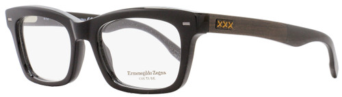 Ermenegildo Zegna Couture Rectangular Eyeglasses ZC5006 001 Size: 53mm Black/Ebony/Horn 5006