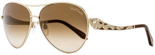 Roberto Cavalli Aviator Sunglasses RC920S-A Muphird 29F Gold/Dark Brown 920