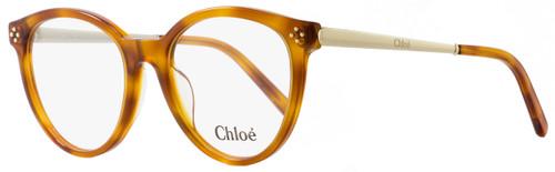 Chloe Oval Eyeglasses CE2676 725 Size: 52mm Blonde Havana 2676