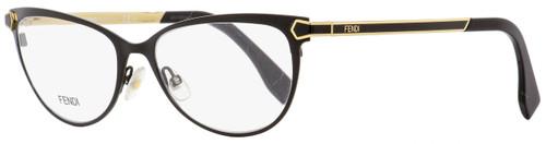 Fendi Oval Eyeglasses FF0024 7WH Black/Gold 53mm 024