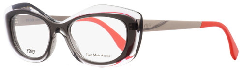 Fendi Oval Eyeglasses FF0030 7NW Ruthenium/Crystal/Gray 50mm 030