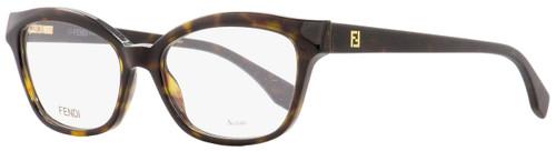 Fendi Oval Eyeglasses FF0046 086 Havana Shiny/Matte 52mm 046