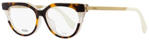 Fendi Oval Eyeglasses FF0116 MUV Havana/Beige/Gold 52mm 116