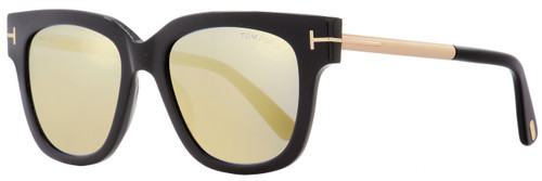 Tom Ford Square Sunglasses TF436 Tracy 01C Black/Gold 53mm FT0436