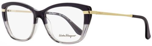 Salvatore Ferragamo Cateye Eyeglasses SF2730 065 Smoke/Gray/Gold 53mm 2730