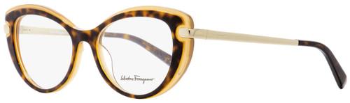 Salvatore Ferragamo Cateye Eyeglasses SF2755 245 Havana/Honey 51mm 2755