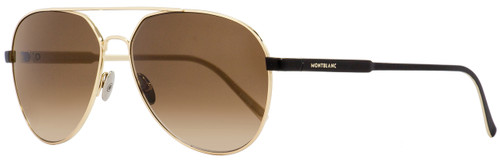 Montblanc Aviator Sunglasses MB644S 32F Gold/Matte Black 60mm 644
