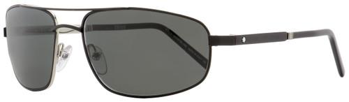 Montblanc Wrap Sunglasses MB650S 02A Matte Black/Palladium 60mm 650
