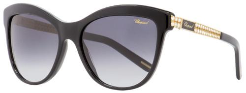 Chopard Cateye Sunglasses SCH189S 700F Black/Gold 55mm 189