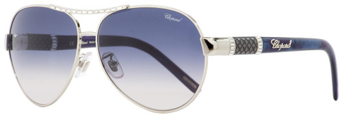 Chopard Aviator Sunglasses SCHA59S 0579 Palladium/Acqua Melange 59mm A59